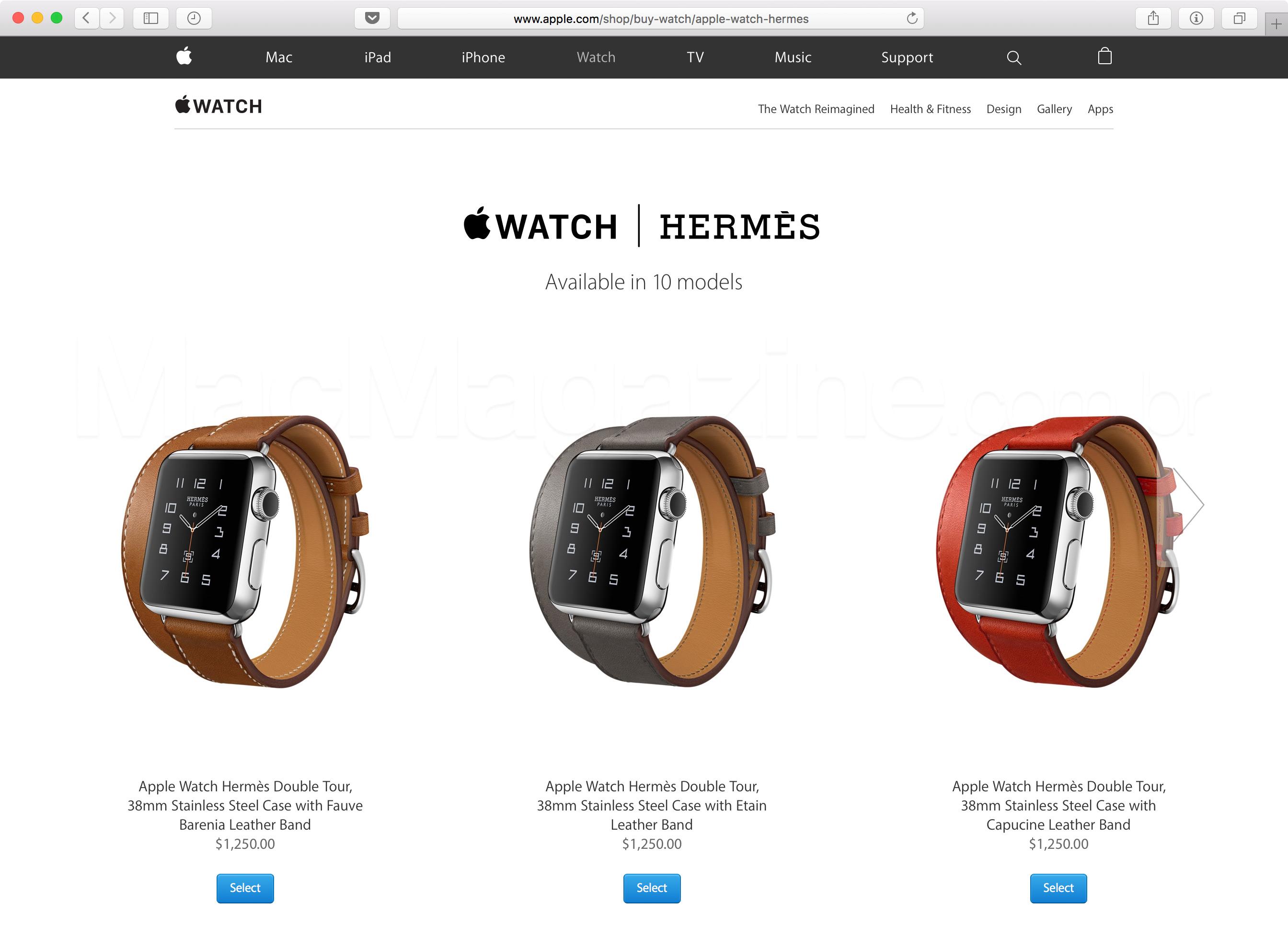 Apple Watch Hermès à venda online