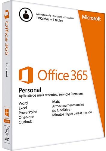 Caixa do Office 365 Personal