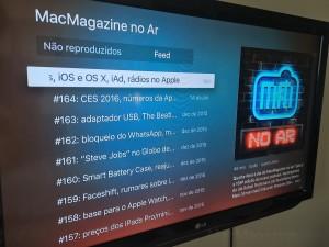 App Podcasts na Apple TV