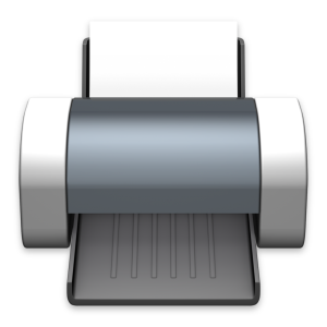 Ícone genérico de impressora da Apple