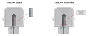 Recall do adaptador para conector de parede CA da Apple