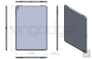 Suposto desenho técnico do iPad Air 3