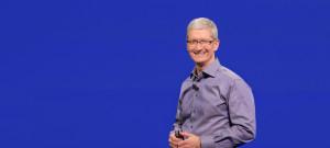 Tim Cook em evento da Apple (9 de setembro de 2015)