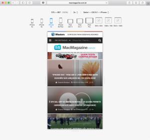 Modo de Design Responsivo no Safari 9