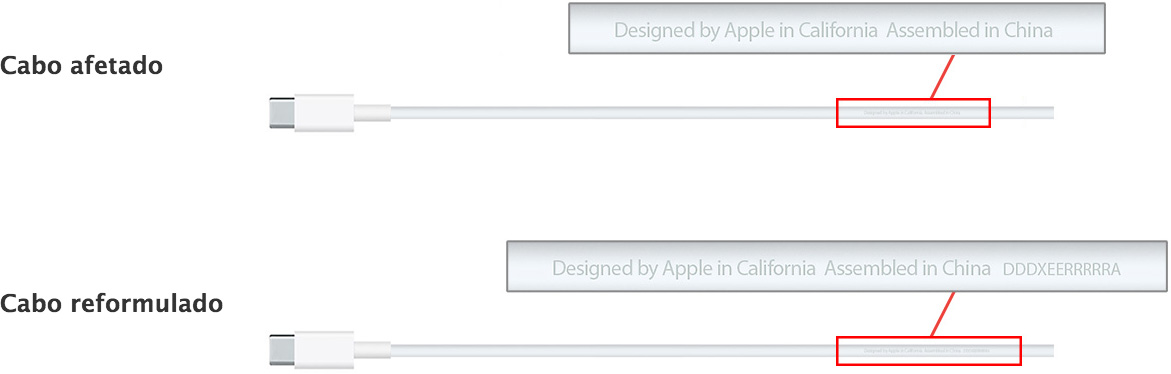 Recall de cabos USB-C da Apple