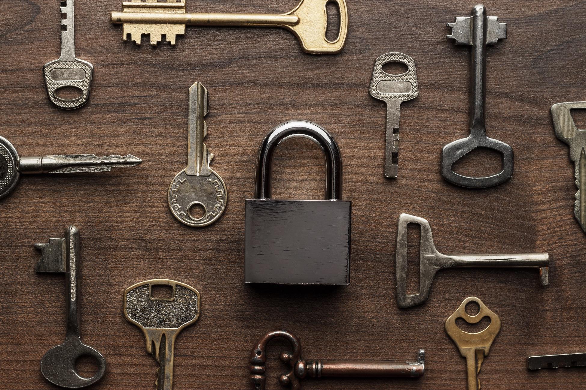 Cadeado e chaves