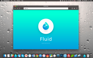 Screenshot do Fluid Browser