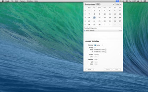 App popCalendar para OS X