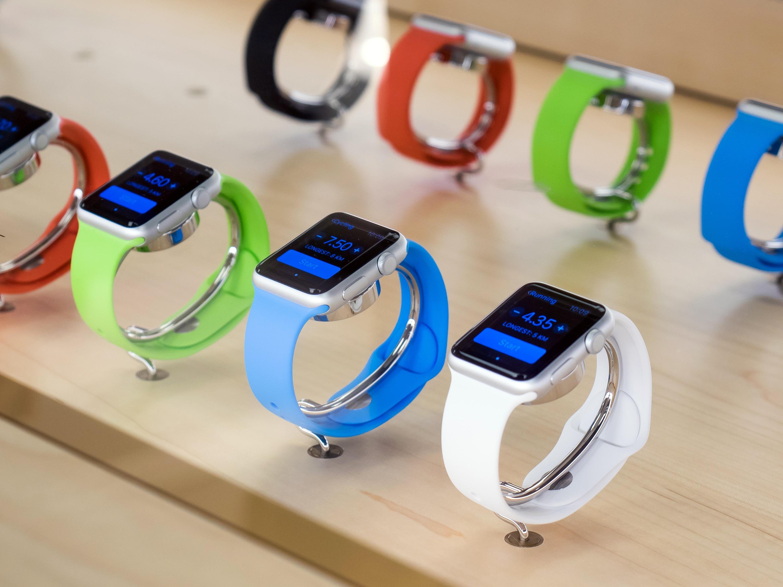 Apple Watches em uma Retail Store