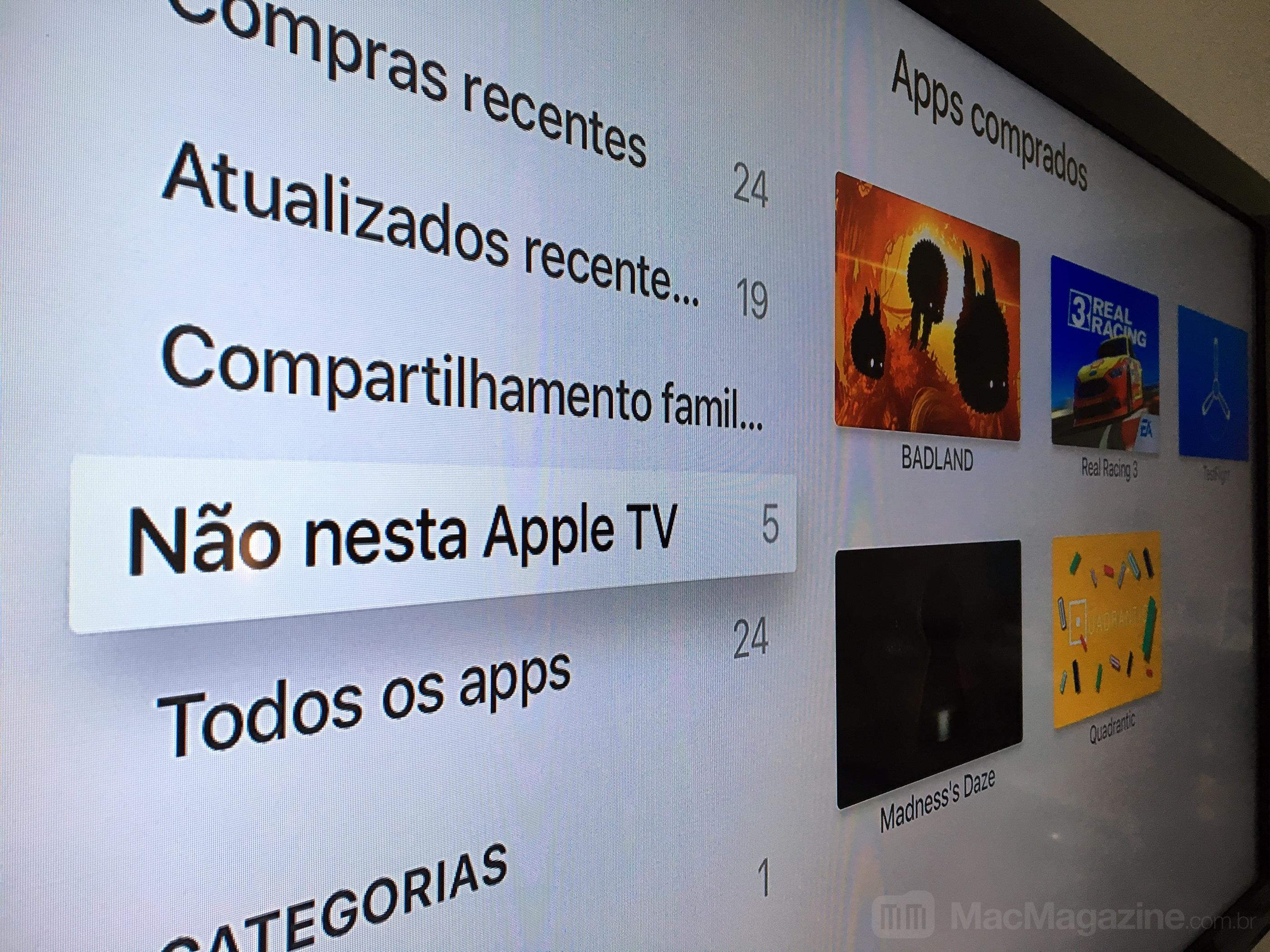 Não nesta Apple TV - tvOS