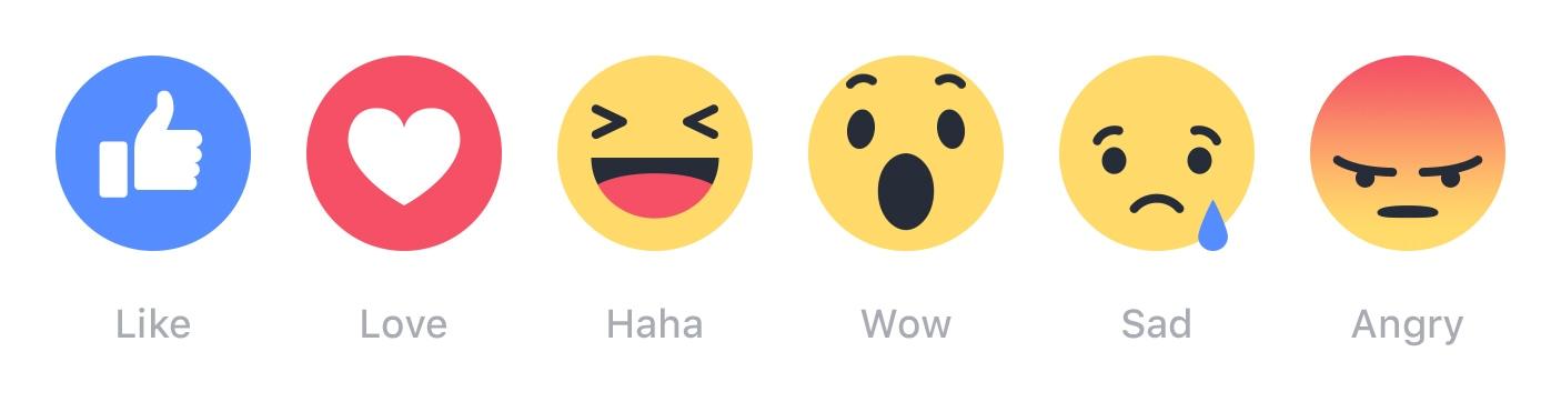 Reactions do Facebook