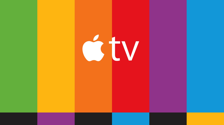 Barras coloridas da Apple TV