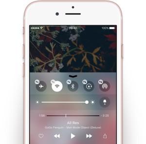 Conceito da Central de Controle no iOS 10
