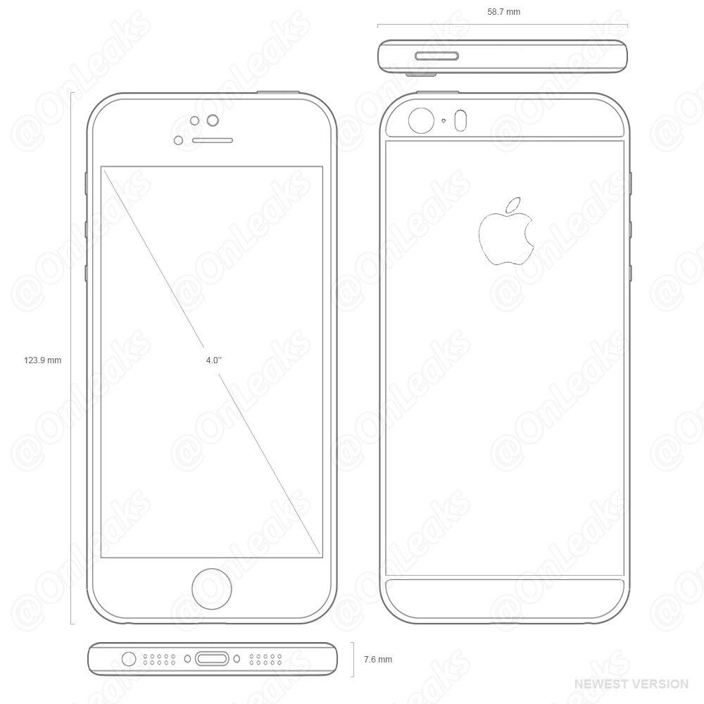 "Esquema do ""iPhone SE"""
