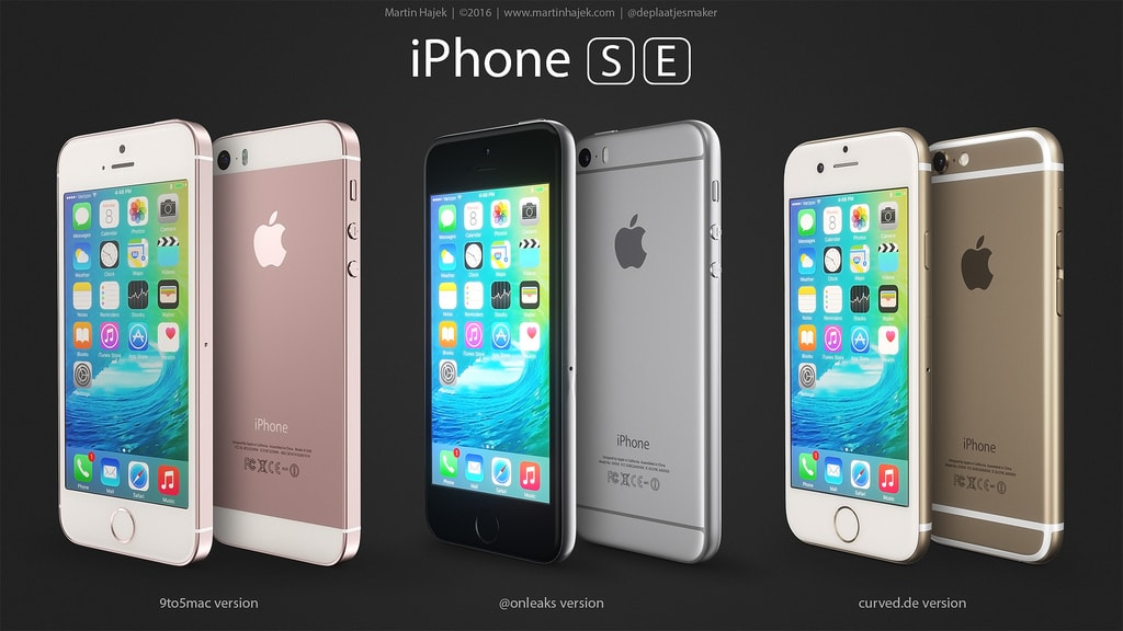 "Mockups do ""iPhone SE"""