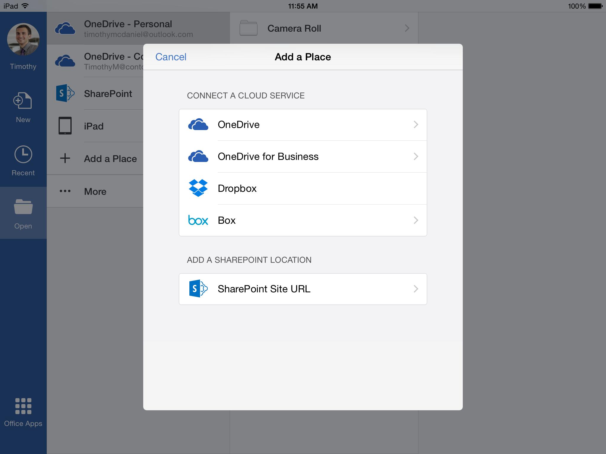 Microsoft Office 365 no iPad