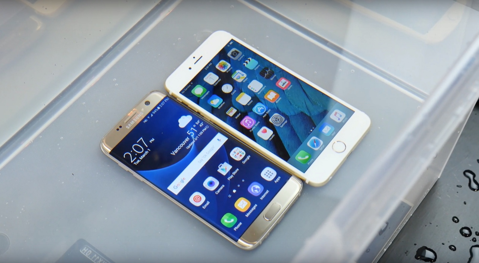 Smartphones da Samsung e da Apple