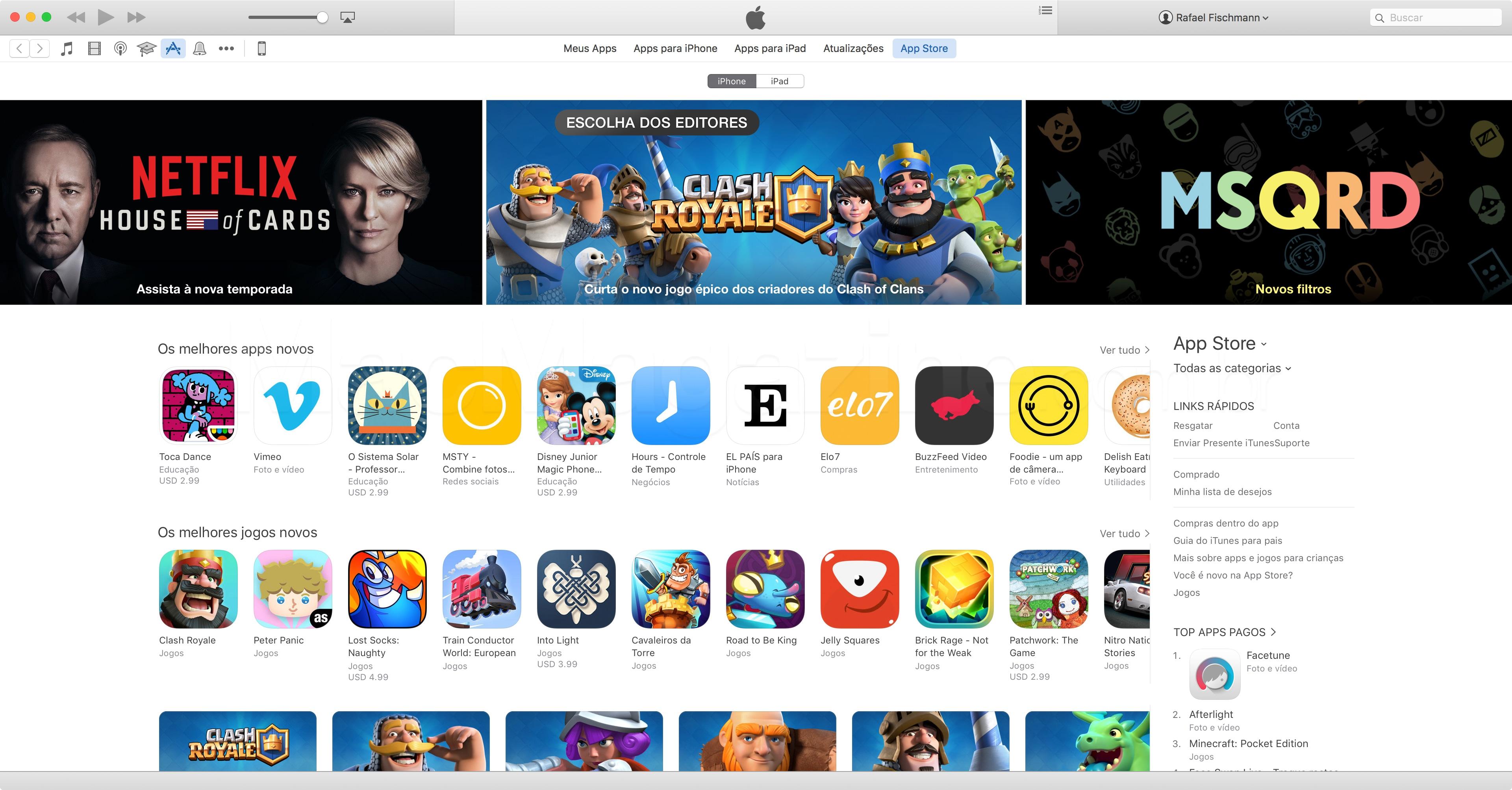 Screenshot da App Store
