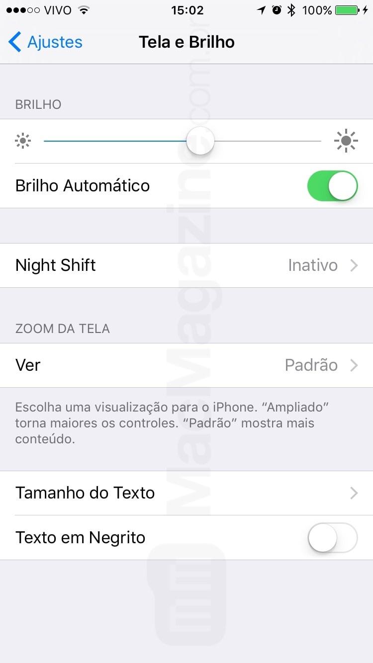 Night Shift no iOS 9.3 beta 5
