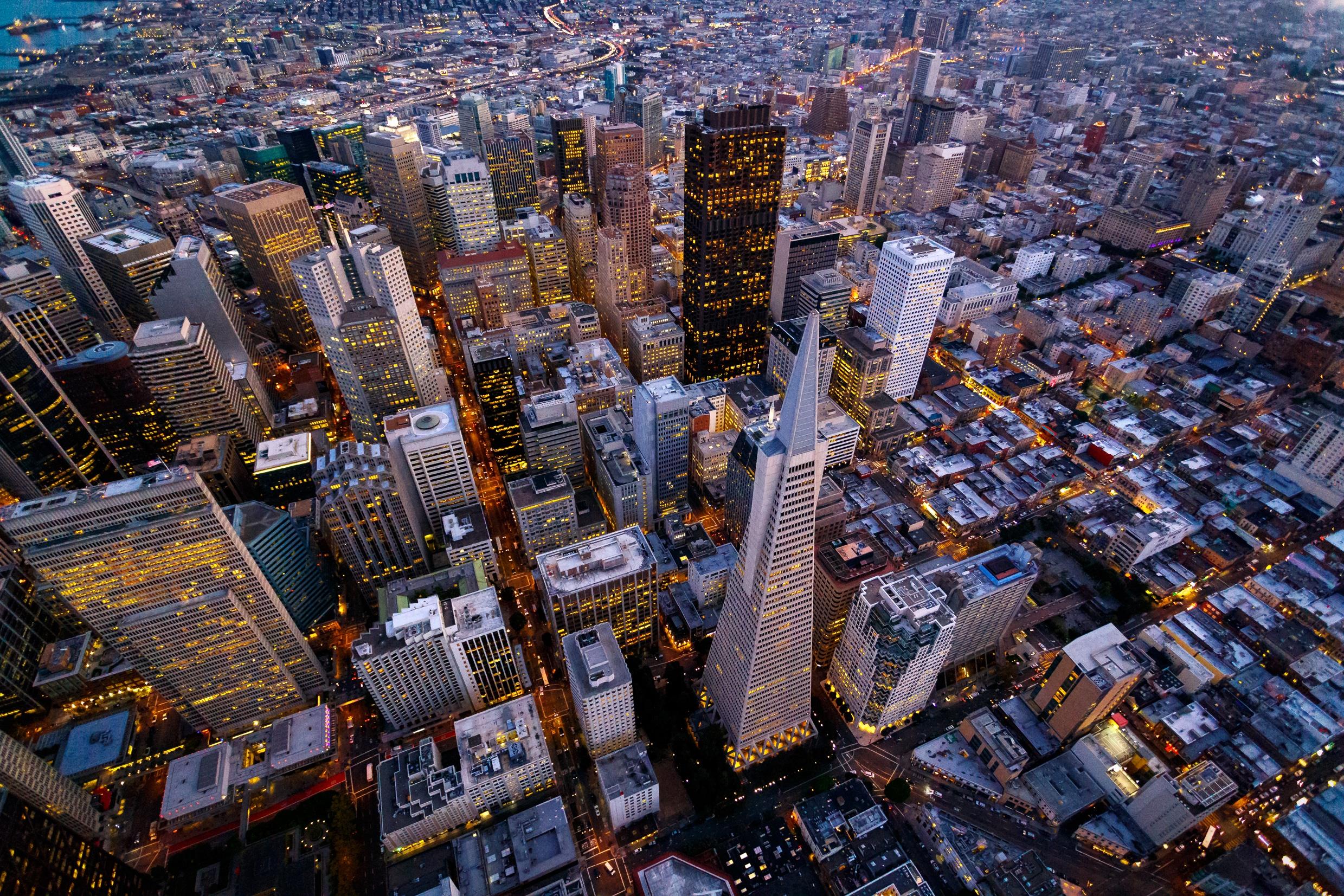 Visão aérea de San Francisco
