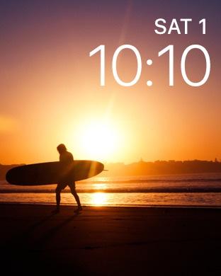 Mostrador do Apple Watch (app Fader)
