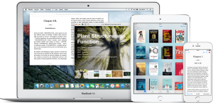 iBooks no MacBook Air, no iPad mini e no iPhone 6/6s