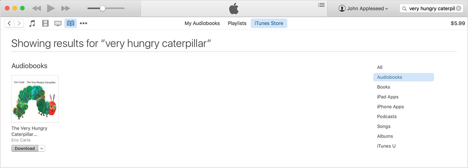 Baixado novamente um audiolivro pelo OS X