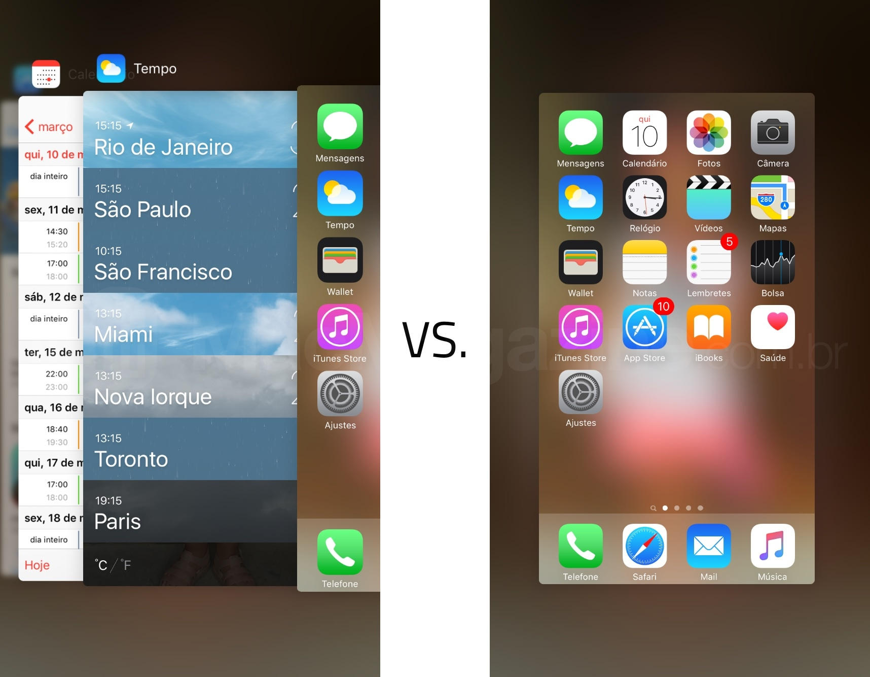 Multitarefa no iOS 9