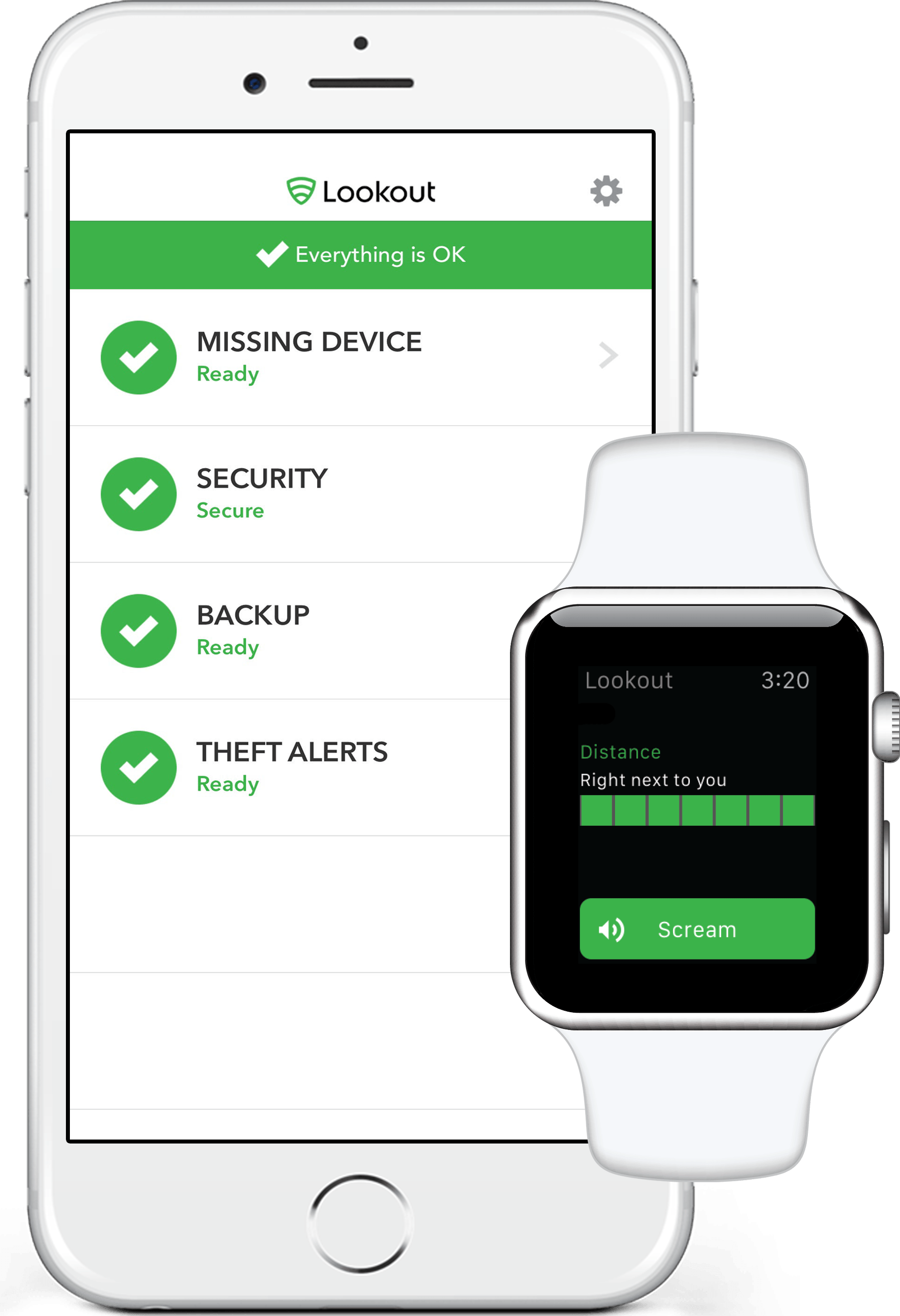 Lookout no iPhone e no Apple Watch