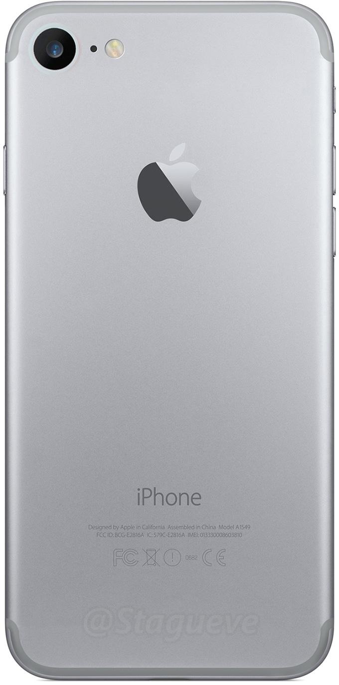 Mockup da traseira do iPhone 7