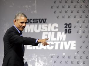 Barack Obama falando no SXSW 2016