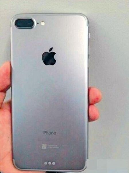"Suposta carcaça do ""iPhone 7 Plus"""