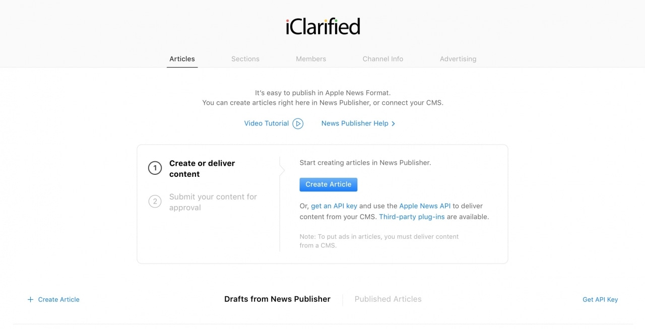 Plataforma online do News, da Apple
