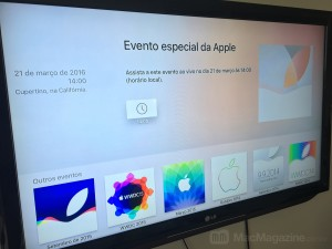 Apple Events na Apple TV