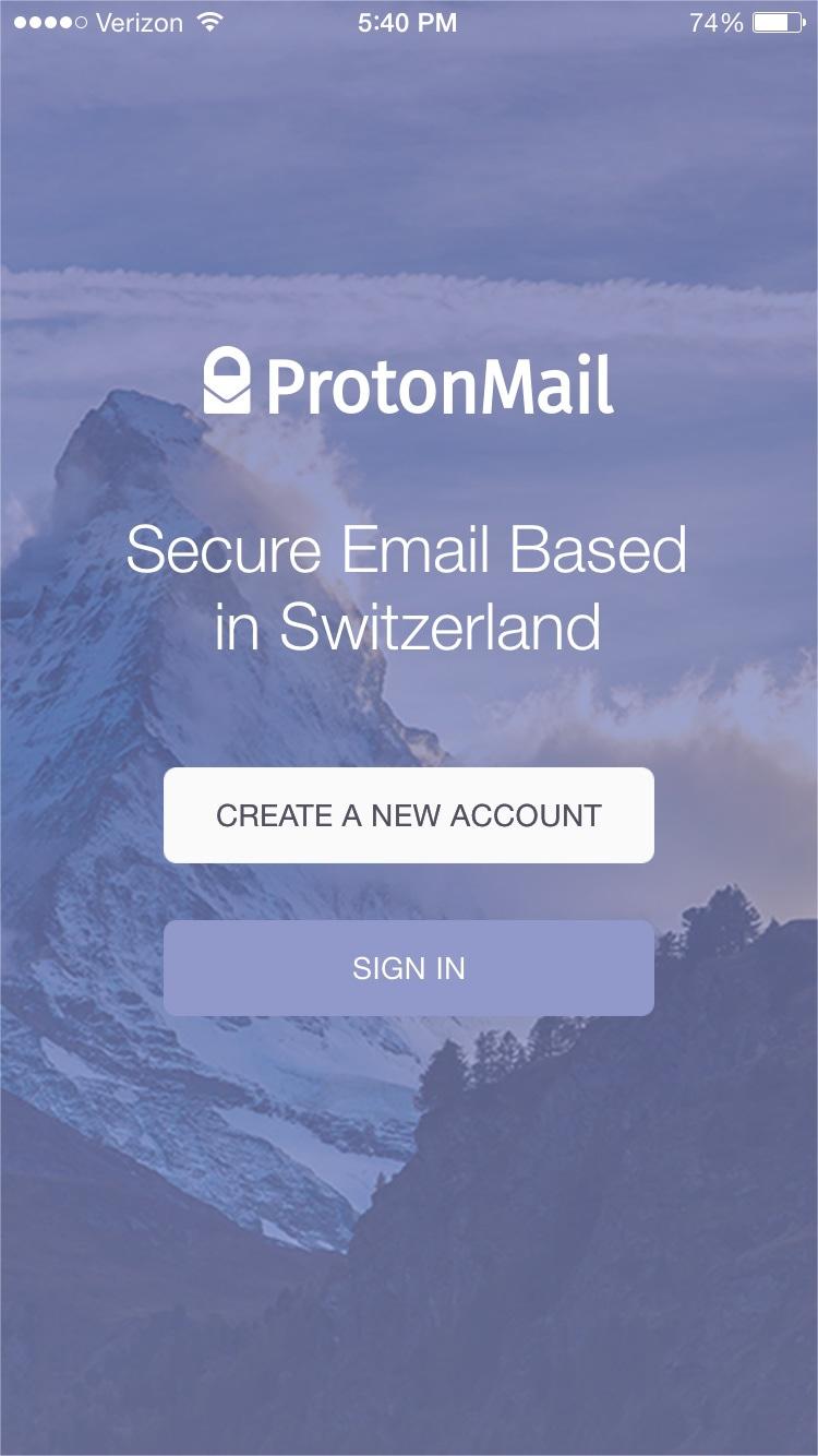 Screenshot - ProtonMail