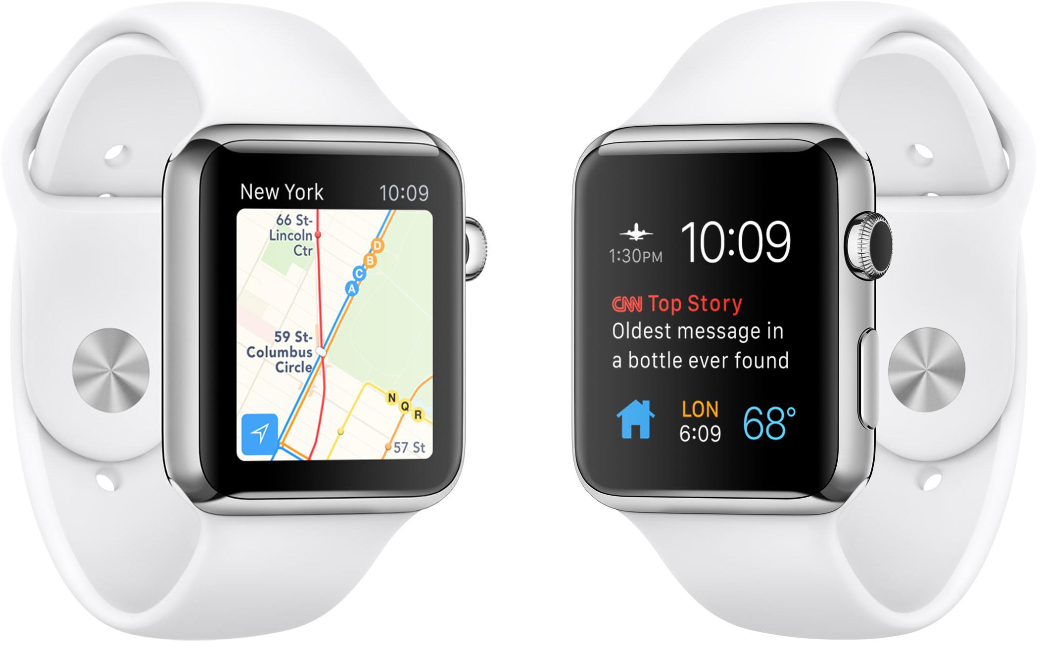 Apple Watches lado a lado