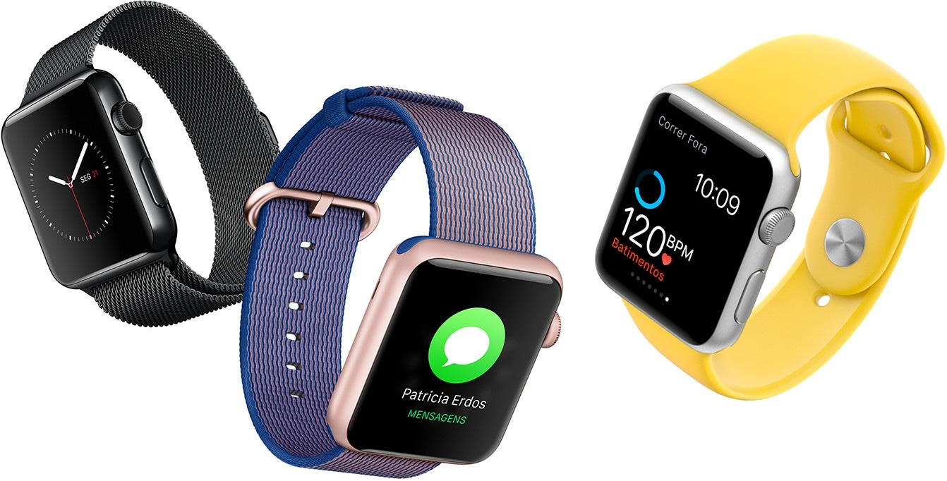 Novas cores/pulseiras para Apple Watches