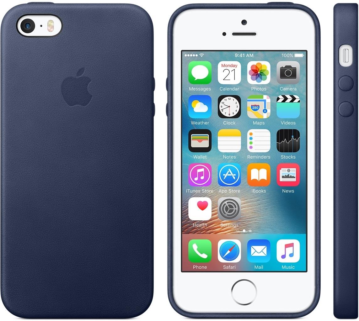 Capa de couro do iPhone SE