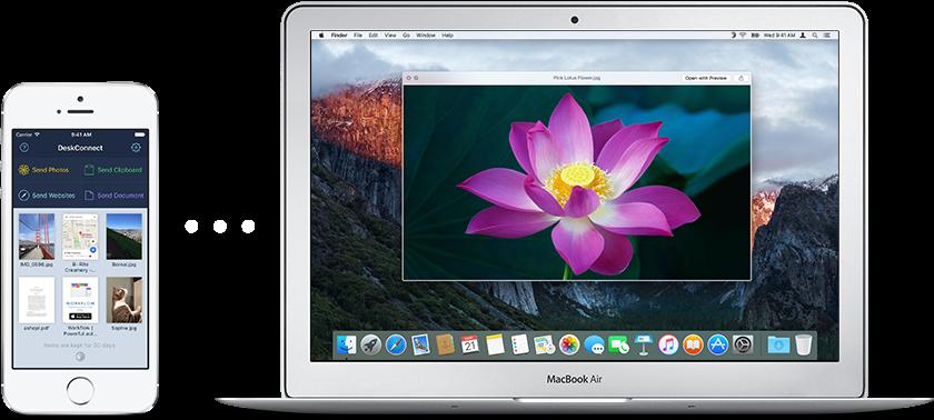 App DeskConnect para iOS e OS X