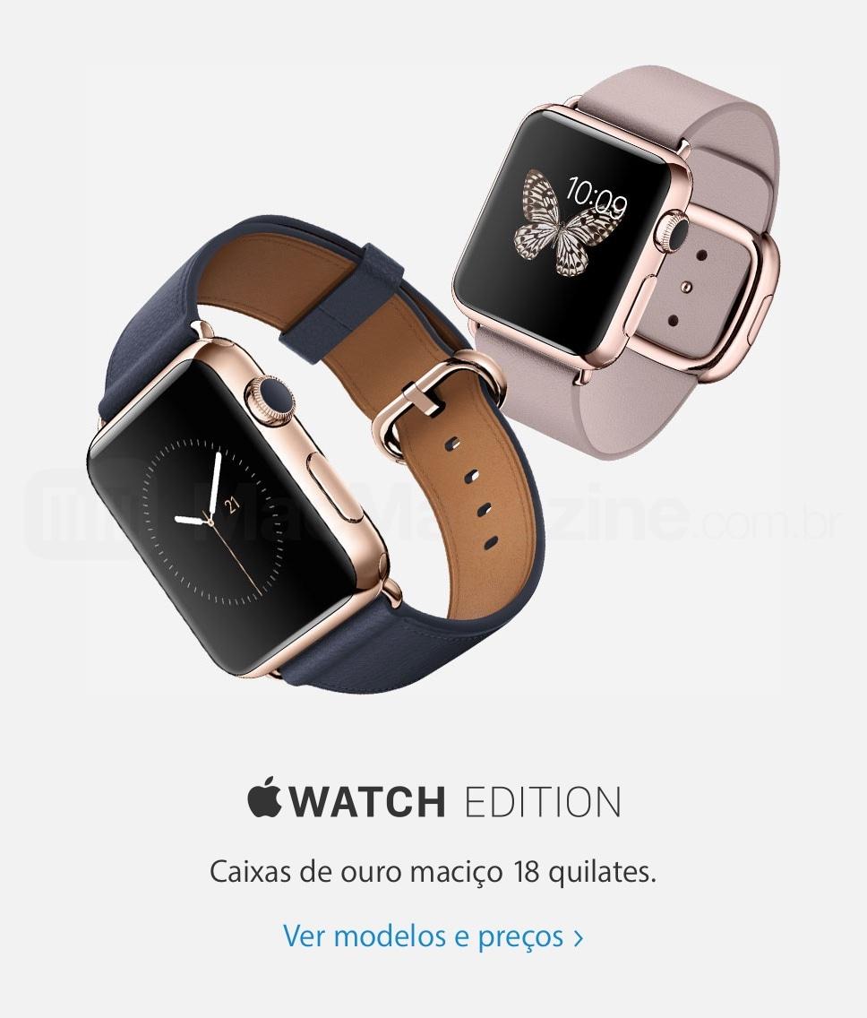 Banner do Apple Watch Edition