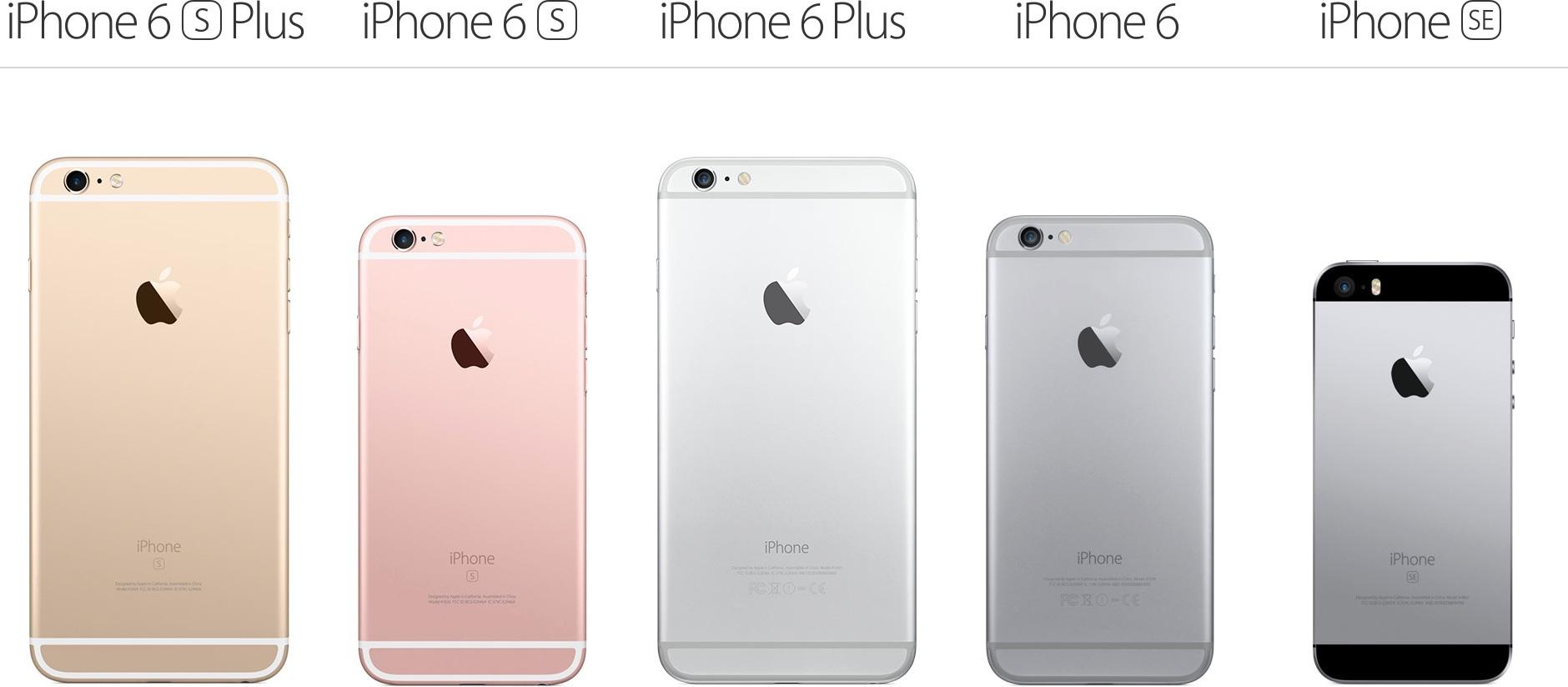 Atual linha do iPhone (2016)