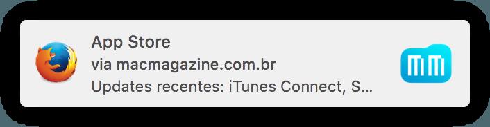 Notificações push do MacMagazine no Firefox