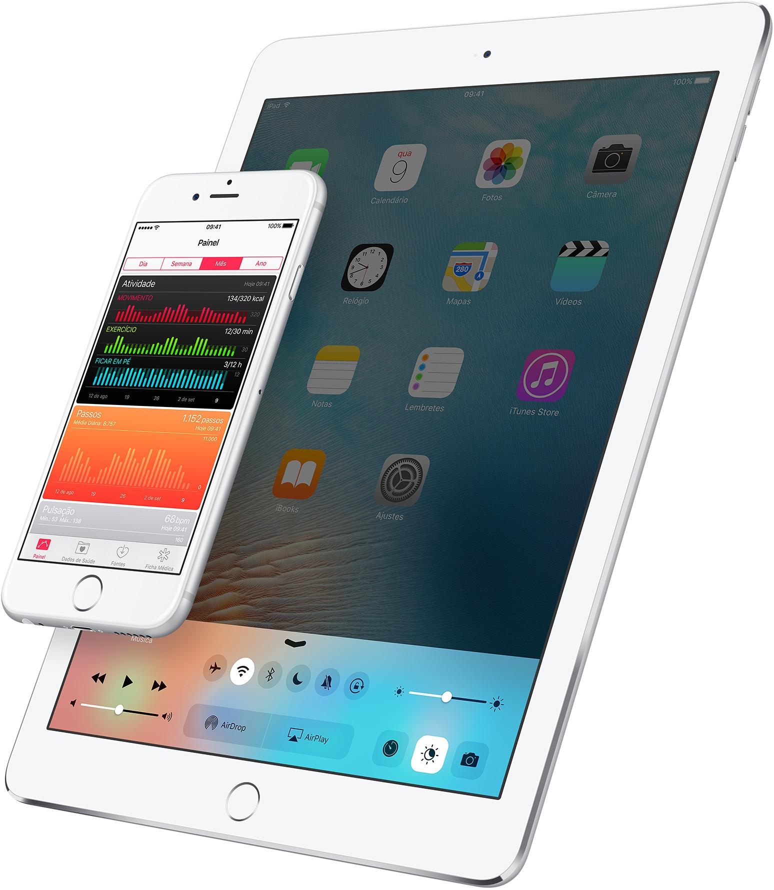 iOS 9.3 no iPad e no iPhone