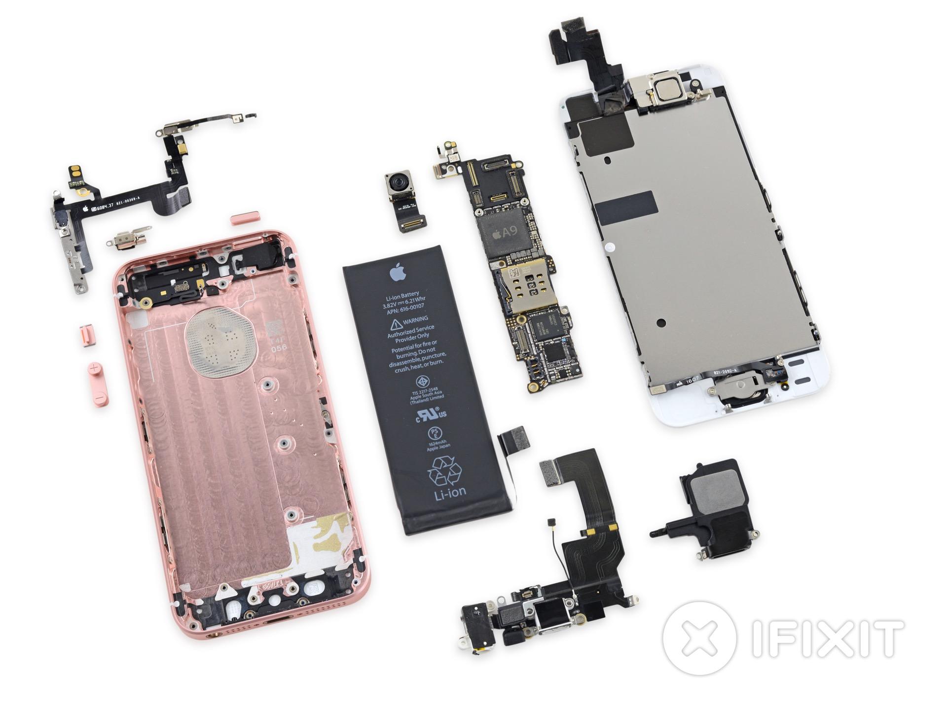 iPhone SE desmontado pela iFixit