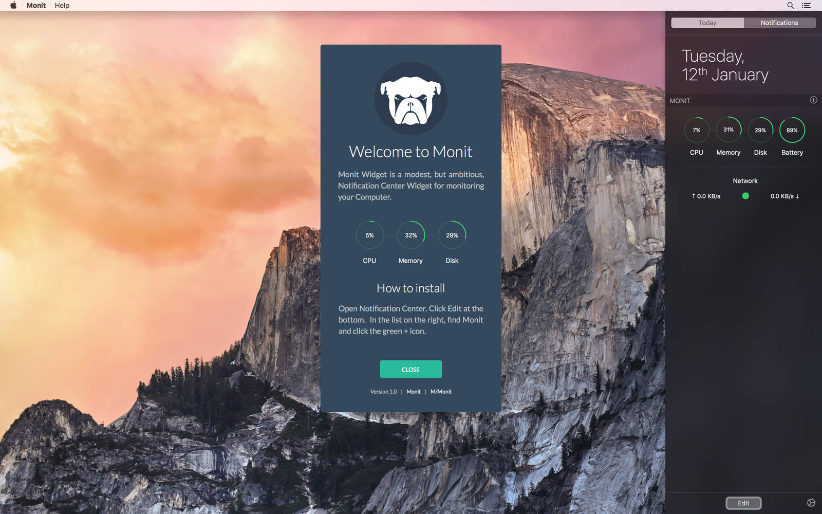App MONIT para OS X