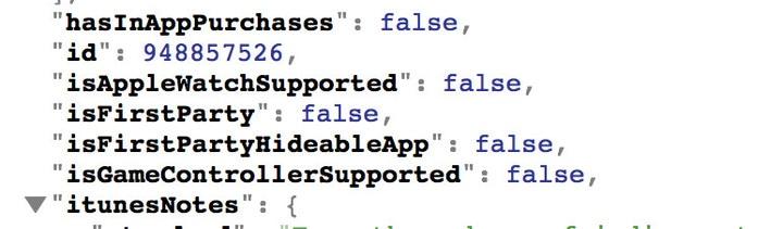 Metadados do iTunes sobre esconder apps