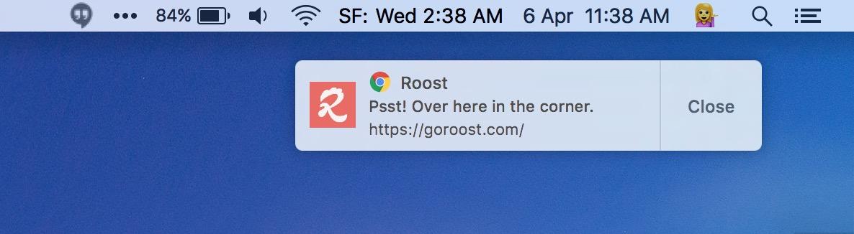 Push do Chrome nativo do OS X