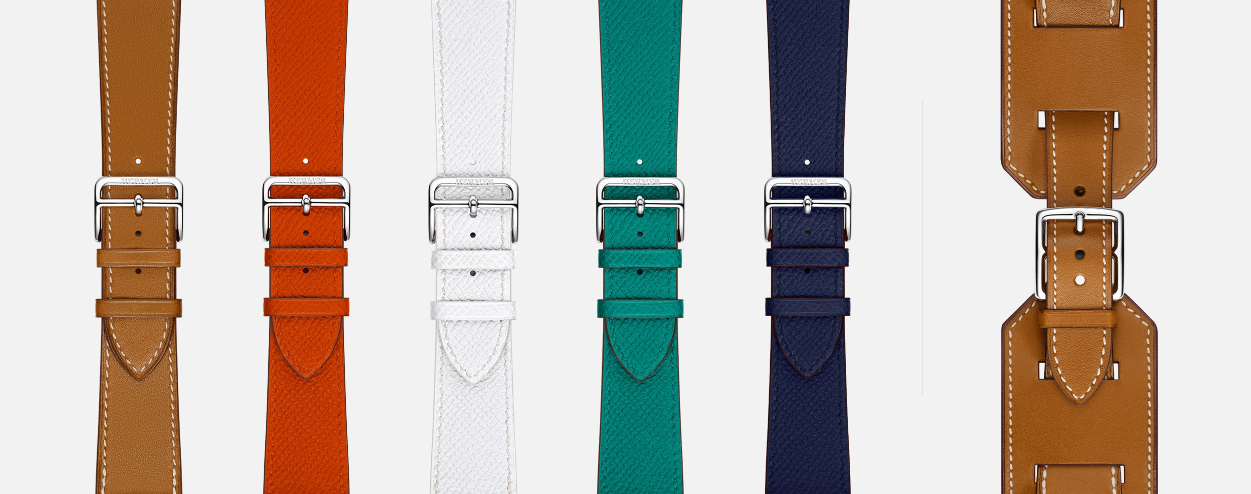 Novas cores de pulseiras Apple Watch Hermès