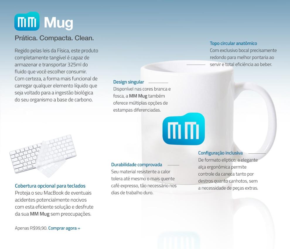 Brincadeira de lançamento da MM Mug