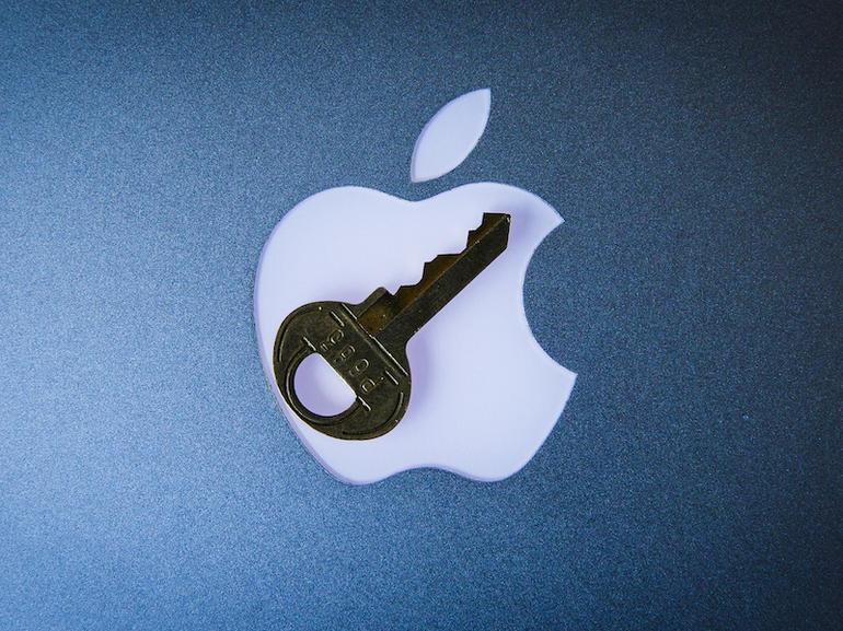 Chave em cima do logo da Apple